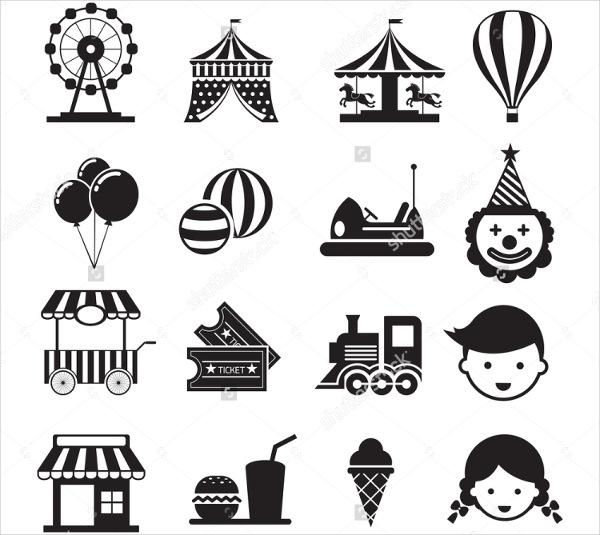 circus-carnival-icons-set
