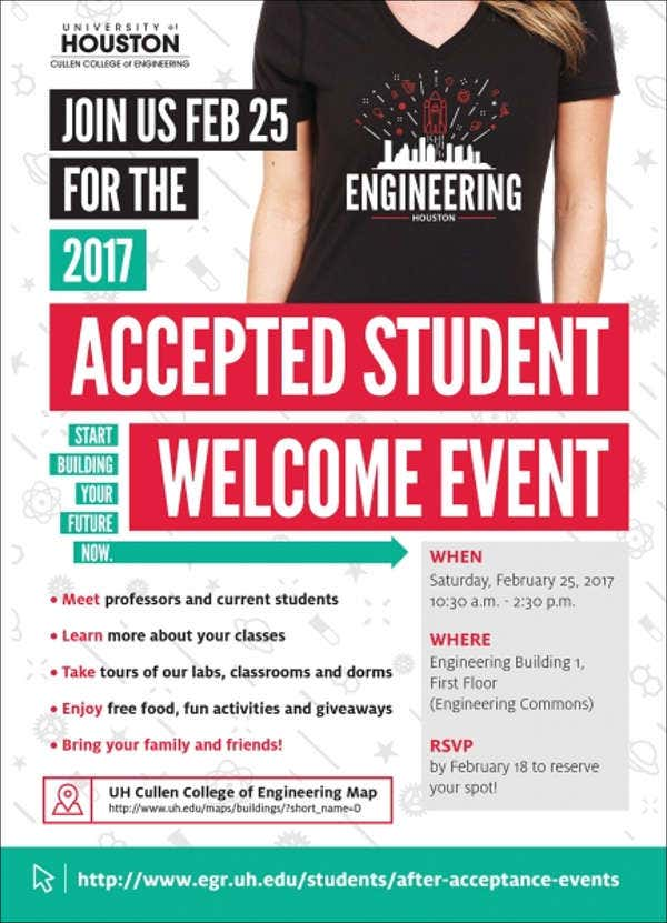 student welcome event invitation2