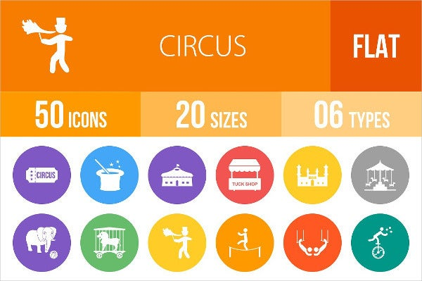 rounded-flat-circus-icons