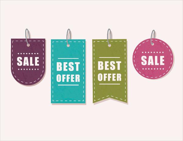 sales tag vector