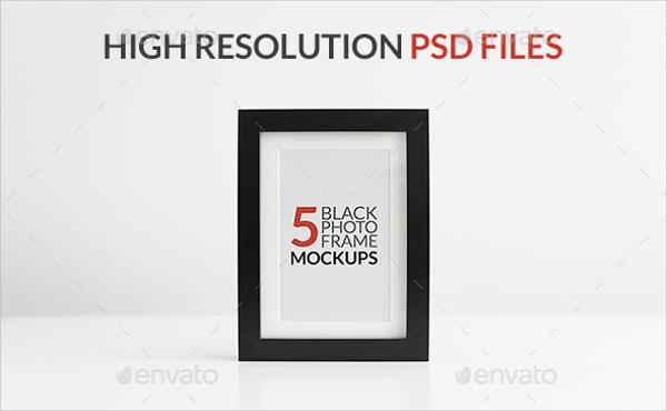 black frame mockup