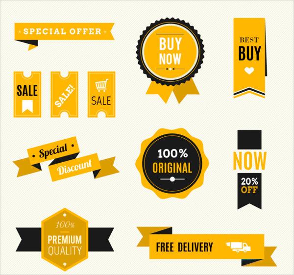sales badge vector