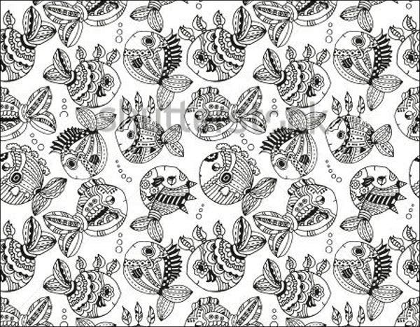 black and white japanese pattern