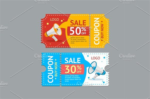 coupon sales vector
