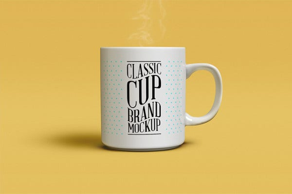 photorealistic coffee mug mockup
