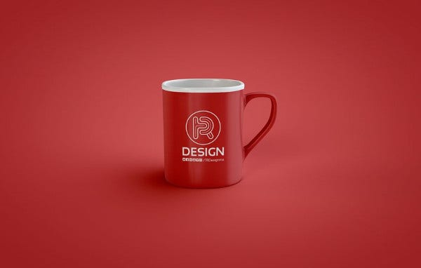 coffee mug mockup with logo