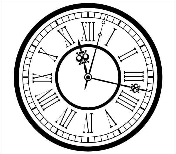 9 Clock Vectors Vector Eps Svg Format