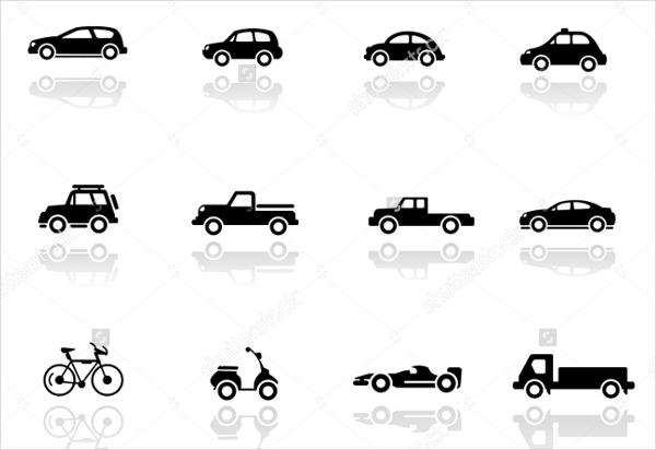 wheeled vehicle icons