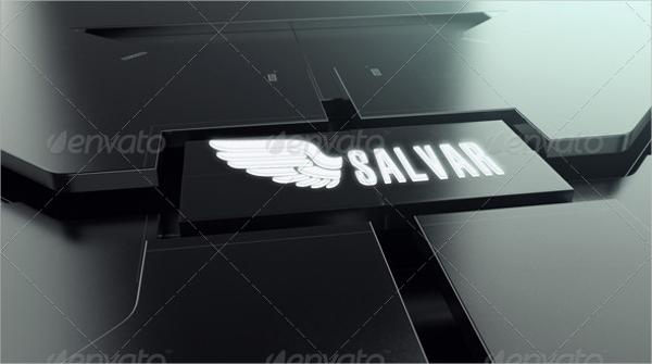 futuristic logo mockup
