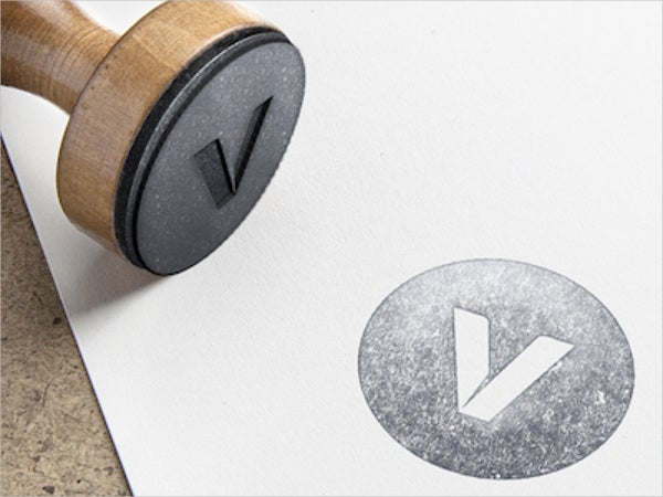 stamp logo mockup