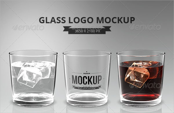 glasses logo mockup