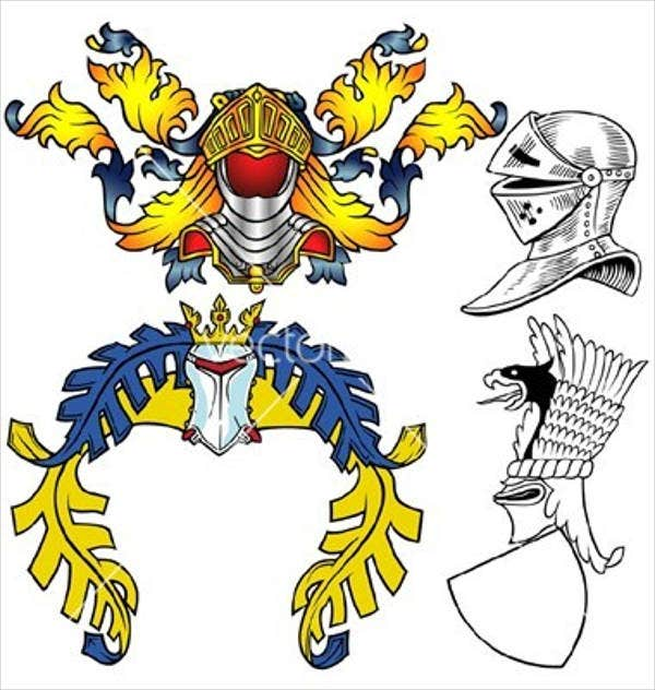 heraldic helmet vector