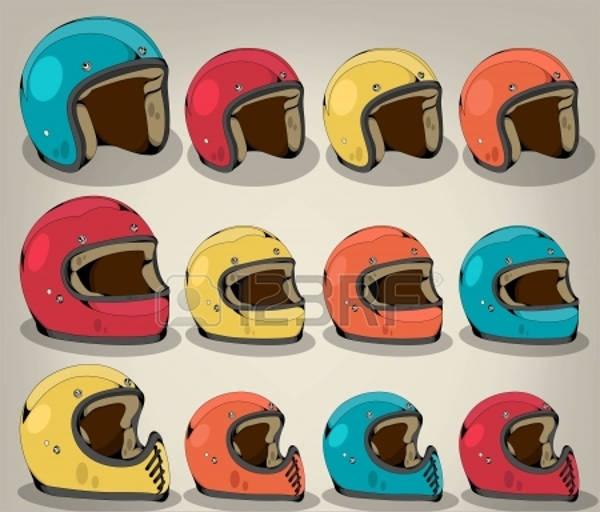 vintage helmet vector