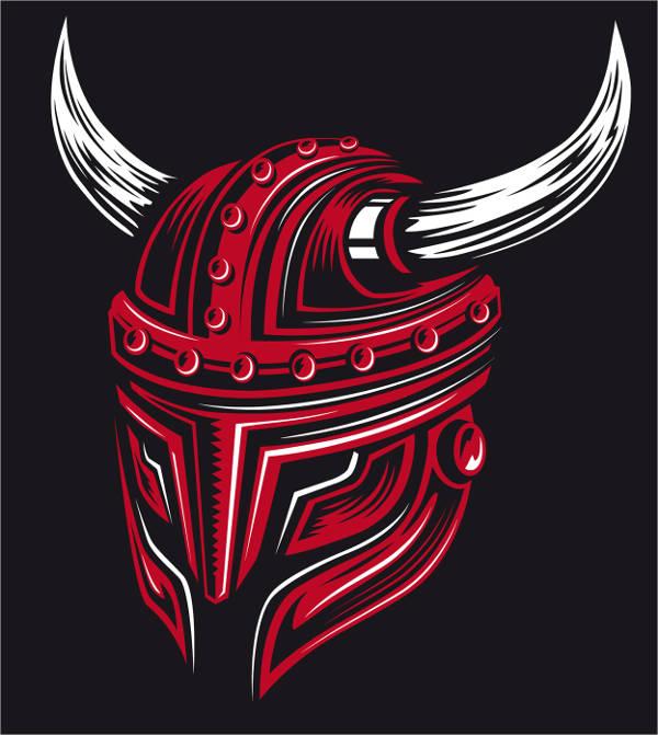 viking helmet vector