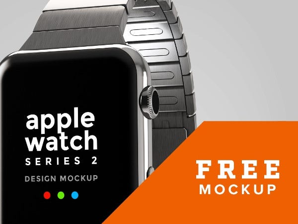 3D Apple Watch Mockup