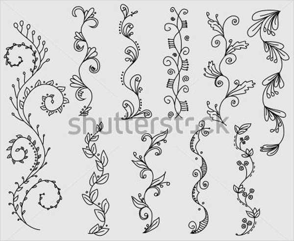 hand-drawn-vine-vector