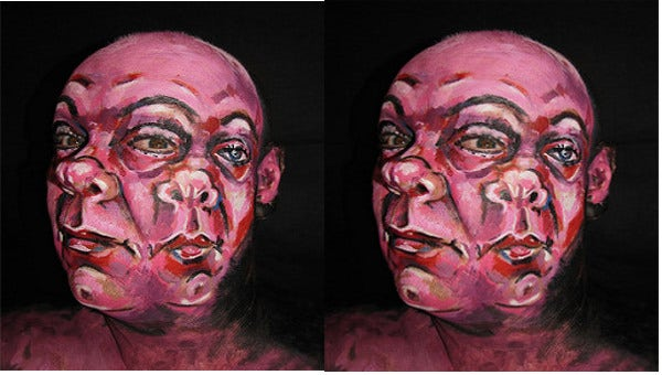 illusion face painting