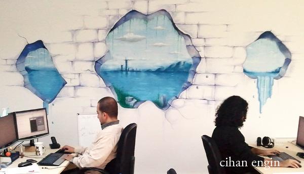illusion wall painting