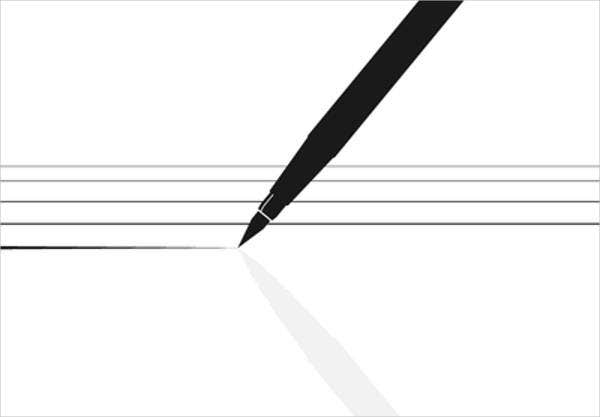 black and white pencil vector