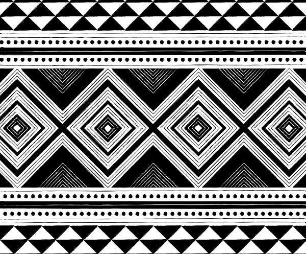 black and white african pattern