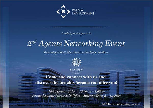 Delightful Business Networking Event Invitation Regarding Business Event Invitation