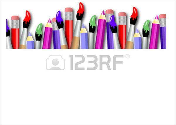 brush pencil vector