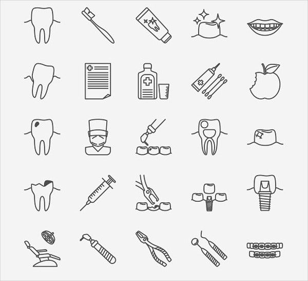 dental clinic icons2