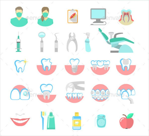 dental care service icons