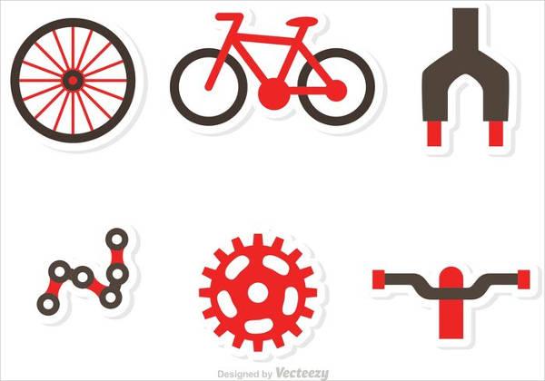 bicycle-parts-vector