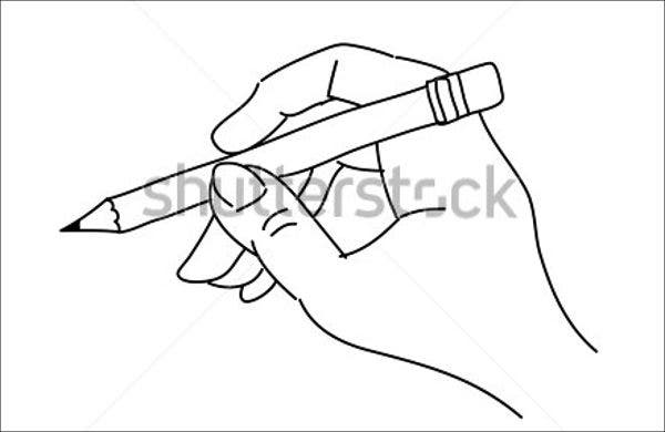 hand drawn pencil vector