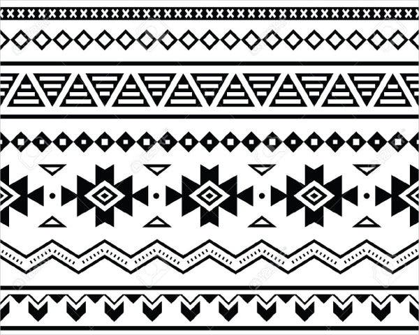 Aztec Style Mexican Pattern