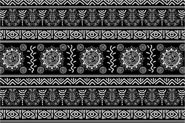 Black and White Mexican Pattern