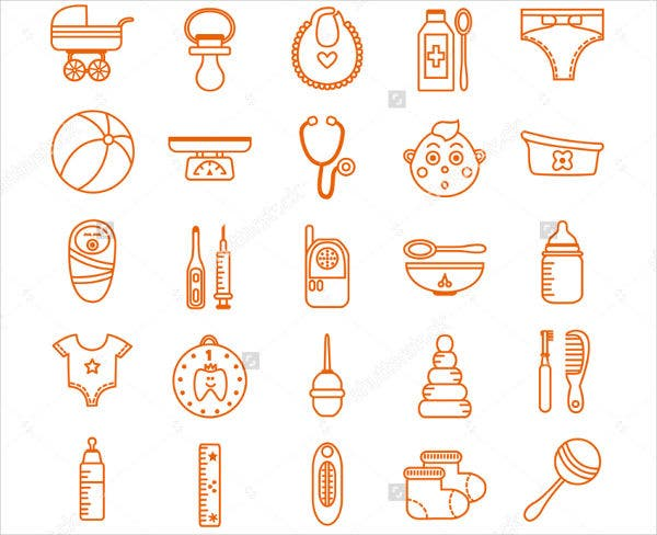 baby-clinic-icons-set