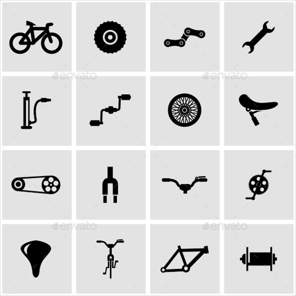 Vector Bicycle Icons