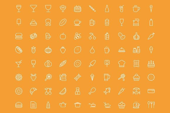 food-drinks-outline-icons