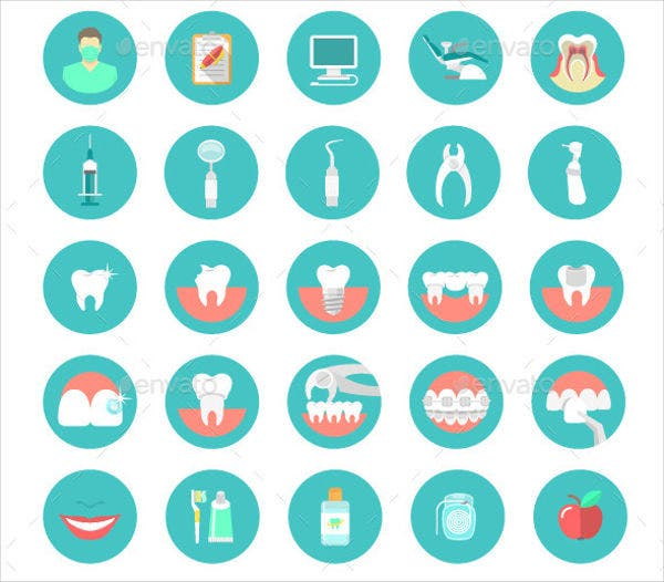 Dental Clinic Service Icons