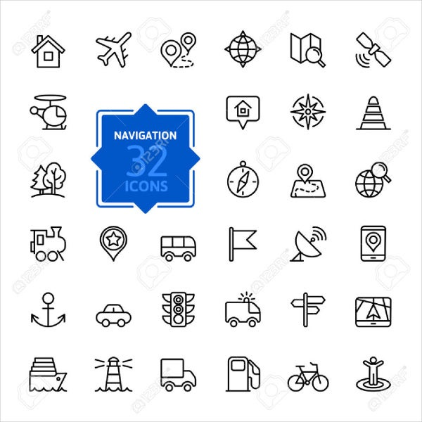 location-icons-set