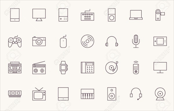 multimedia-outline-icons