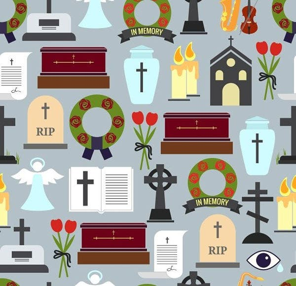Colorful Funeral Icons