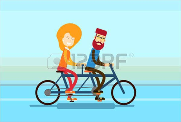 couple-bicycle-vector