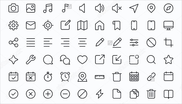 outline-web-icons