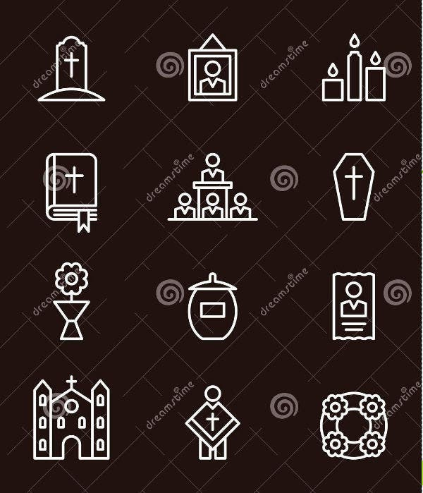 Funeral and Death Icons