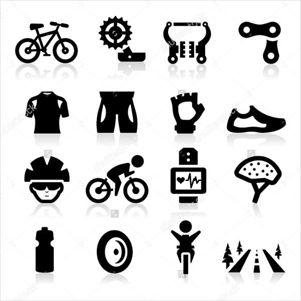 Bicycle Sports Icons