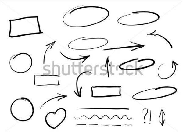 hand drawn circle vector