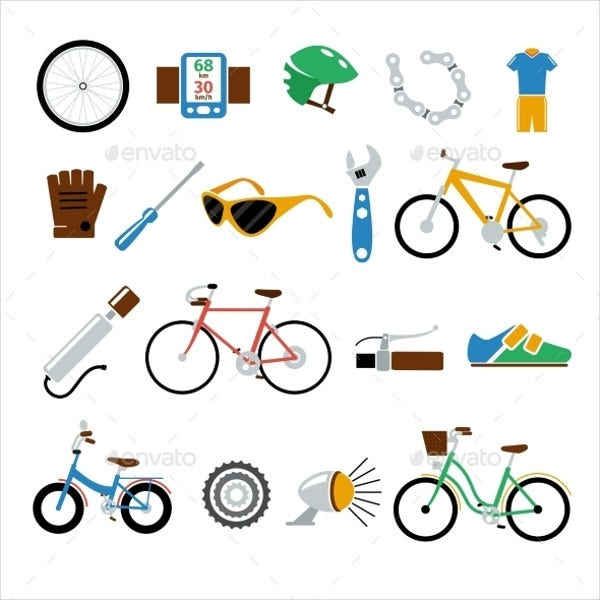 bicycle-bike-vector-flat-icons