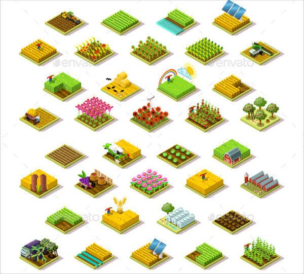 3d Isometric Icons