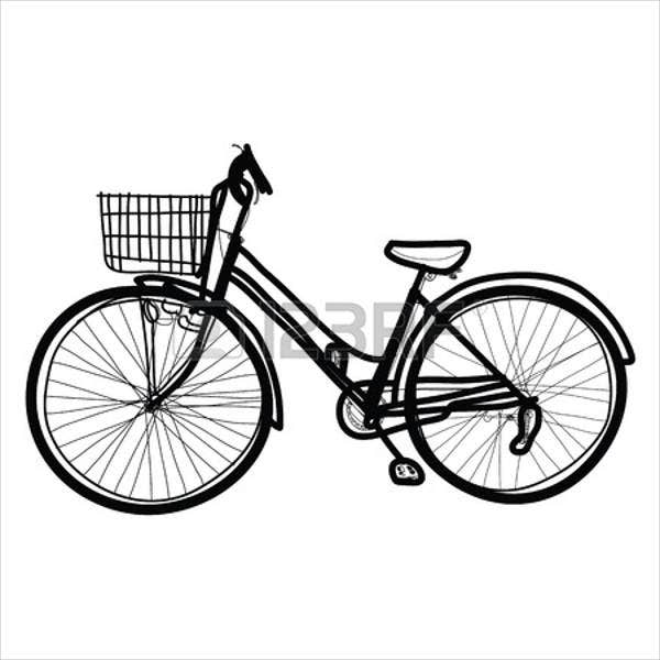 hand-drawn-bicycle-vector