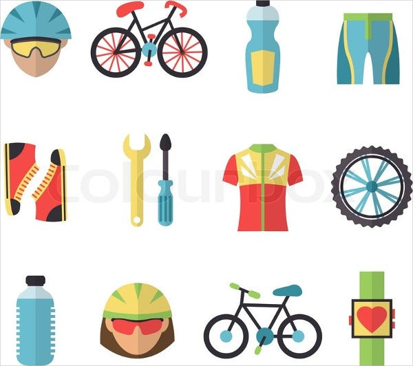 bicycle-fitness-icons