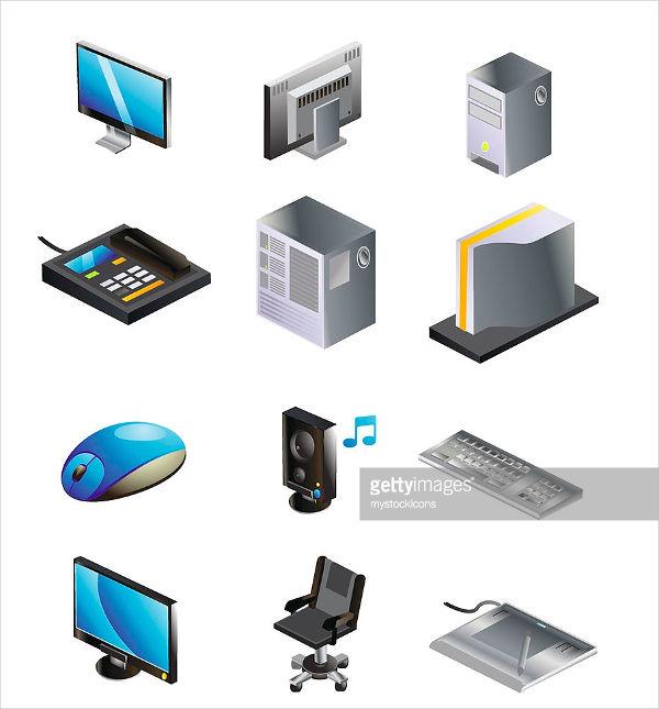 Isometric Computer Icons
