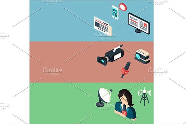 Isometric Multimedia Icons